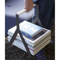 This Magazine/Newspaper Rack holds multiple magazines and newspapers without worry of them slipping around.