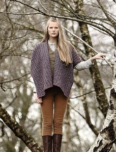 Connemora pattern by Lisa Richardson, from A/W 2015 pattern booklet for Rowan Hemp Tweed. Available July 2015.