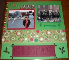 Christmas Parade Double Layout Page 1 - Scrapbook.com