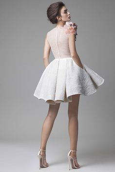 If youlovedresses that are edgy but also elegant from every angle, then Krikor Jabotian had you in mind when he crafted these pieces. It's quite a treat to see something so different and with such daring structure. It's no wonder Krikortook inspiration from the dahlia flower--which is symbolic of elegance, inner strength, change, and an…