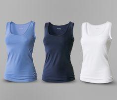Topy ze směsi bavlny a elastanu (5 %), 3 ks