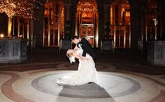 The New York Palace solo spotlight in the Madison Avenue courtyard. #MOREwedding