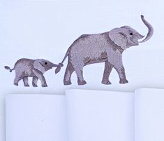 Machine Embroidery Design Elephants