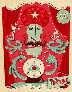 Fortune teller by Poleta Art, via Flickr