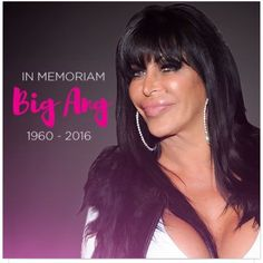 """""""This will be my last post as the bustle of Big Ang's services comes to an end and reality sets in for all that our beloved friend has been called home.  I…"""""""