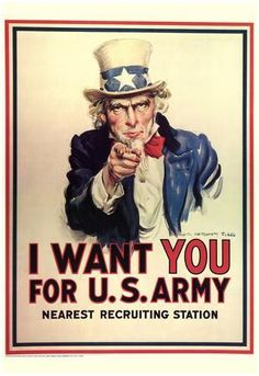 Vintage war propaganda poster - Uncle Sam pointing, with the text: I want you for U. army - WWII - wall art poster - old war poster Think Tank, Posters Vintage, Pub Vintage, Vintage Travel, Vintage Pins, Vintage Art, Dental Humor, Dental Hygiene, Dental Assistant