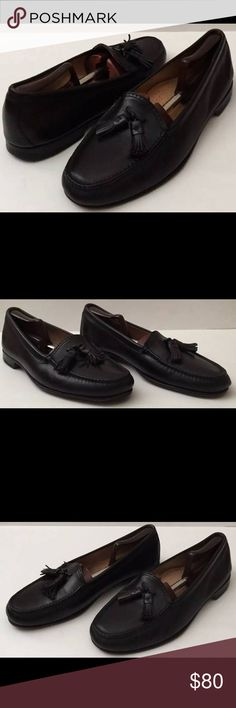 Frye Black Leather Tasseled Slip On Loafers 12 M Frye Black Leather Tasseled Loafers Casual Dress Shoes Size 12 M  Shoe trees not included. Please view last photos for minor wear.  Thanks so much for your support. Good luck. Frye Shoes Loafers & Slip-Ons