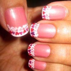 Monielim: valentines 2010 nail art Valentine Nails, Valentine Ideas, Valentines Day, Pedicure Ideas, February 14, Red Hearts, Creative Nails, Pink Nails, Fashion Beauty