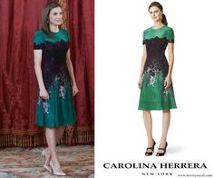 Carolina Herrera floral print dress from Pre Fall 2015 collection