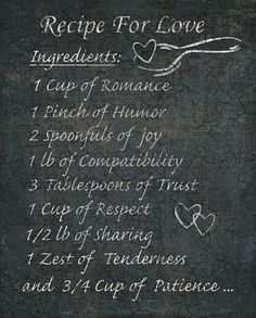 Recipe for Love... this would be cute in a kitchen