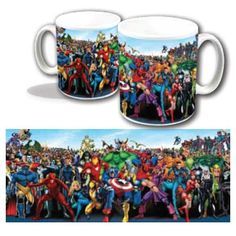Marvel Character Line Up Mug: Amazon.co.uk: Kitchen & Home