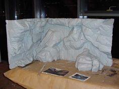 diy fake rock wall - Google Search