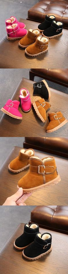32b91fc03bfc5 Girls Shoes 57974  Kids Baby Girl Winter Boots Shoes Toddler Infant Cotton  Soft Sole Snow