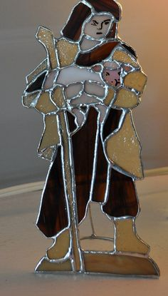 Shepherd boy of the nativity by DianasStainedGlass on Etsy, $65.00