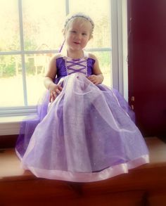 Rapunzel Dress sparkle Purple lined tutu dress with by KnottedWear, $44.95