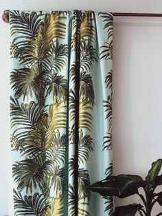Florence Broadhurst fabrics coming soon! A sneak peak of her 4 Colour Palm design in Palm Springs, perfect for Textile Prints, Textiles, Drapery, Curtains, Florence Broadhurst, Vibrant Colors, Colours, Bedspreads, Natural Materials