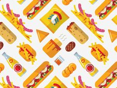 We've created this pattern from the various South African corner café foods we illustrated a while back. We've got something really awesome in the pipeline and can't wait to share... although that...