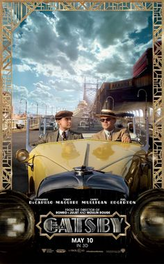 The Great Gatsby (2013) | NEW Movie Poster: Tobey Maguire (Nick Carraway) and Leonardo DiCaprio (Gatsby)