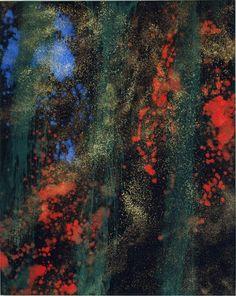 "John - In the Beginning by Makoto Fujimura. 48x60"" Mineral Pigments, Gold on Belgium Linen"