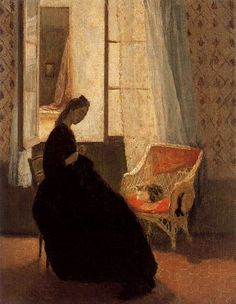 """""""Woman Sewing at a Window"""" by Gwen John"""
