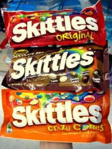 Today I picked up a packed of Skittles and smiled when I saw that they are labelled 'gluten free'. I still stand by my opinion that Skittles taste better in the Favorite Candy, My Favorite Food, Skittles Gift, Snack Recipes, Snacks, Free Recipes, Recipe R, Sour Candy, Taste The Rainbow