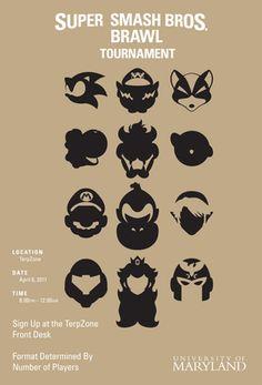 Super Smash Brothers tournament design.