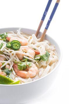Shrimp Recipes, Soup Recipes, Cooking Recipes, Seafood Pho Recipe, Easy Shrimp Pho Recipe, Cooking Ideas, Asian Recipes, Healthy Recipes, Vietnamese Recipes