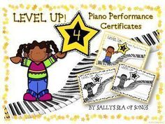 Level Up Piano Performance Award Certificates Music Education Activities, Teaching Resources, Teaching Ideas, Physical Education, Piano Classes, Types Of Learners, Award Certificates, Piano Teaching, Learning Piano