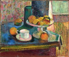 Henri Matisse, Still Life with Compote, Apples, and Oranges, 1899, oil on canvas, 18 1/4 x 21 7/8 inches, The Metropolitan Museum of Art - Selected Highlights