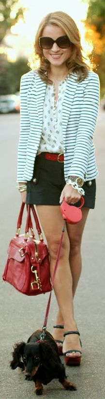 no i do not have a crush on an amazing striped jacket. Summer Into Fall by Hello, Framboise