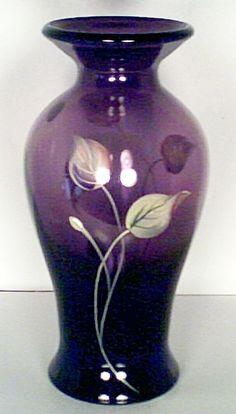 Fenton Art Glass Aubergine Vase
