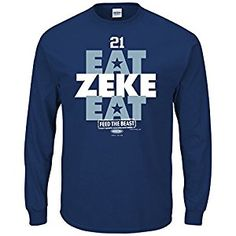 Dallas Cowboys Fans. Eat Zeke Eat Navy Long Sleeve T-Shirt (Sm-3X) c5a88dc7b