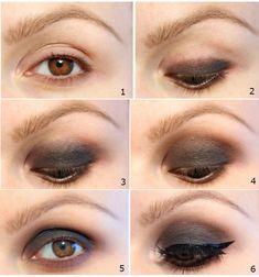smokey eye makeup application