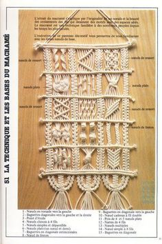 macrame especial decoracion - this was very popular in the 1970s: