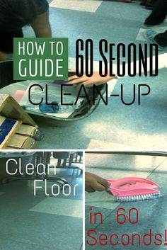 Bright Idea blog hop:  The 60-Second Clean Up