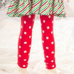 Mallory May Red Dot Holiday Leggings from Freckles Children's Boutique for $24.00