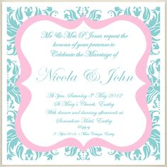 vintage teal pink wedding invite, £1.60, #weddinginvitation