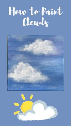 @sandymctier shows you how to paint clouds step-by-step using acrylic paint. Whether you're new to painting or just looking to refresh your skills, clouds are a wonderful subject to have in your acrylic painting arsenal. These simple, fluffy clouds are gorgeous and easy to make using only a few basic colors. Acrylic Painting For Beginners, Acrylic Painting Tutorials, Using Acrylic Paint, Step By Step Painting, Beginner Painting, Acrylic Painting Canvas, Painting Techniques, Easy Paintings, Landscape Paintings