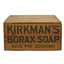 Kirkman's Soap Crate Check with customer service for available quantities. Vintage Crates, Old Crates, Wine Crates, Wooden Crate Boxes, Shipping Crates, Vintage Laundry, Tv Decor, Decor Ideas, Vintage Packaging
