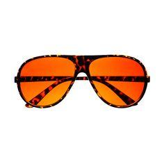 Driving Orange Lens Retro Aviator Sunglasses Shades A42