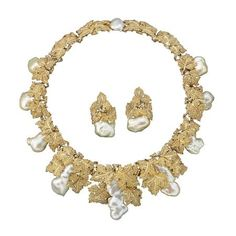 Gianmaria Buccellati's Grand Baroque Set - gold, white gold, and pearls.