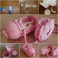 Green Living: Ingenious Ways to Reuse Plastic Bottles Instead of Trashing Them - Usefull Information Doll House Crafts, Diy Home Crafts, Diy Arts And Crafts, Doll Houses, Diy Barbie Furniture, Baby Furniture, Dollhouse Furniture, Baby Doll Nursery, Plastic Bottle Crafts