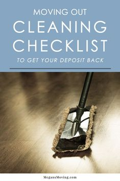 The ULTIMATE move out cleaning checklist to ensure you get your deposit!Don't worry about getting your rental deposit back! I have you covered with this move out cleaning checklist. Moving Out Checklist, Deep Cleaning Checklist, Move In Cleaning, Cleaning Hacks, Moving Tips, Moving Hacks, Kids Checklist, Moving Home, Home Selling Tips
