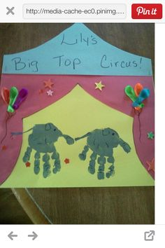 Circus tent w/elephant handprints