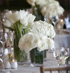 maybe a type of flower per table?