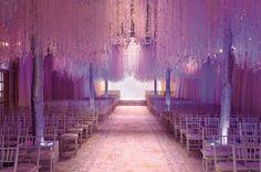 Wedding centerpieces crystal decorations winter wedding Preston Bailey Crystal Trees