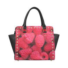 Raspberries Rivet Shoulder Handbag. FREE Shipping. #artsadd #bags #fruits