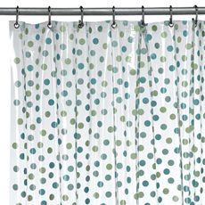 Glee Rain Decorative Vinyl Shower Curtain by Interdesign® for Syd
