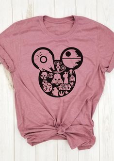 Star Wars O-Neck T-Shirt Tee - Pink the best Online Clothing Shopping Boutiques, get the latest fashion clothing online # Home T Shirts, Tee Shirts, Tees, Disney Shirts, Disney Outfits, Latest Fashion Clothes, Latest Fashion For Women, Trendy Outfits, Cute Outfits