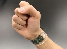 Researchers came up with a flexible band of sensors that can track chemicals in perspiration while you work out.